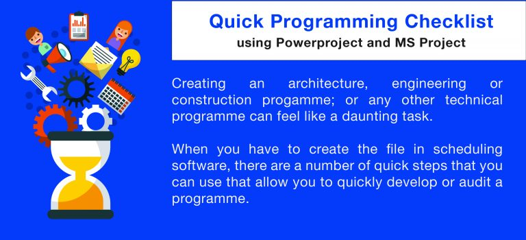 Quick Programming Checklist using Powerproject & MS Project