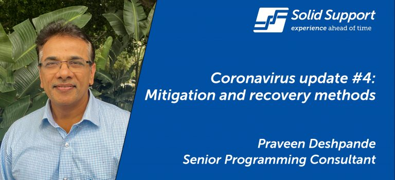 Coronavirus update #4: Mitigation and recovery methods to overcome the impact of COVID-19