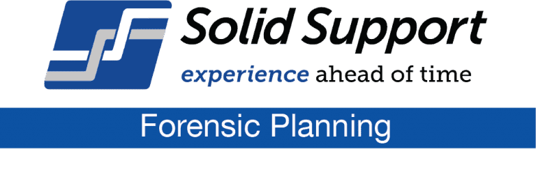 Solid Support Forensic Planning